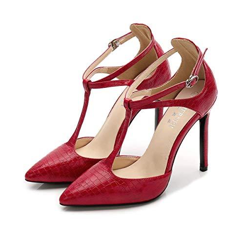 Sandali da Donna con Tacco Alto Scarpe a Punta Sexy con Tacco a Spillo Scarpe Eleganti con Cinturino alla Caviglia Chiuso con Fibbia Pompa per Banchetti Nuziali da Ufficio Club Serale