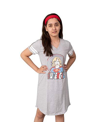 Nap Chief Super Girl Girls Pure Cotton Night Dress (Grey)