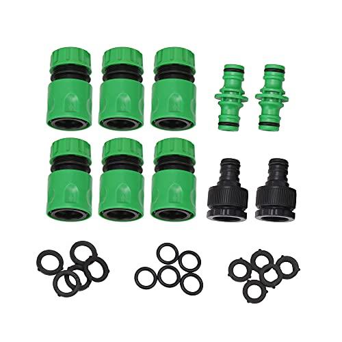 BQLZR Green Garden - Juego de 10 conectores de tubería de agua ABS (1,27 cm)
