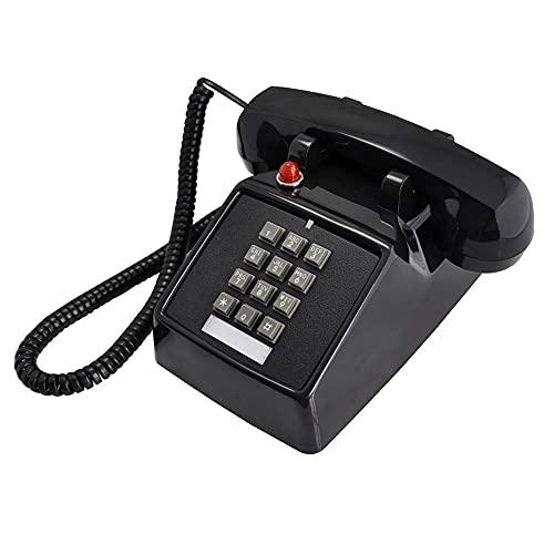 ZHPBHD Teléfono Teléfonos caseros Retro con Cable Teléfono Rojo analógico clásico Vintage Antiguo Antiguo Moda Teléfonos fijos para el Hotel Home Office Hotel (Color : Black Telephone)
