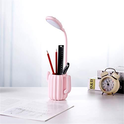 Bureaulamp Met USB-Poort Opladen, 5 Helderheid Levels Compatibel Tafel Licht Met Touch Sensitive Switch Leeslampjes, Potlood Decoratie,Pink,13.5 * 41.5cm