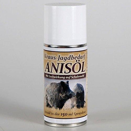 Kraus Jagdbedarf Professionelles Anisöl Lockmittel 150 ml in Spraydose natürlicher Lockstoff für Schalenwild
