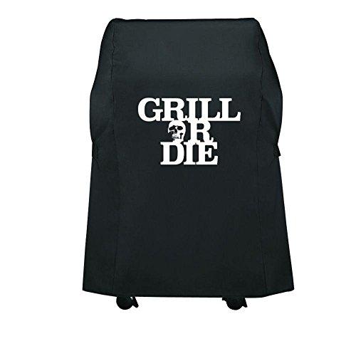 GRILL OR DIE® GT30 Grillabdeckung-Schutzhülle Gasgrill für Weber Spirit 210 (einklappbare Seitentische) passgenau wie Weber Abdeckhaube 7100 (75cm / 30in, Schwarz)