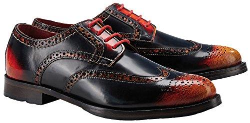Wellensteyn Schuhe Donhurst farbig poliertes Leder (42, rot schwarz)