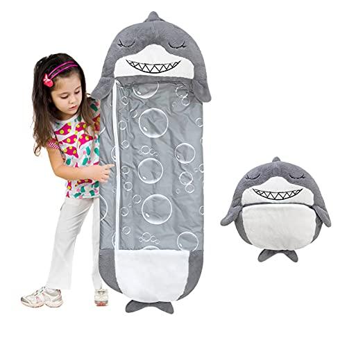 Kinderschlafsack Puppenschlafsack mit Kissen Weicher und bequemer Babyschlafsack Tragbare Kissen und Schlafsäcke geeignet für Nickerchen,Camping und Reisen (D, XL)