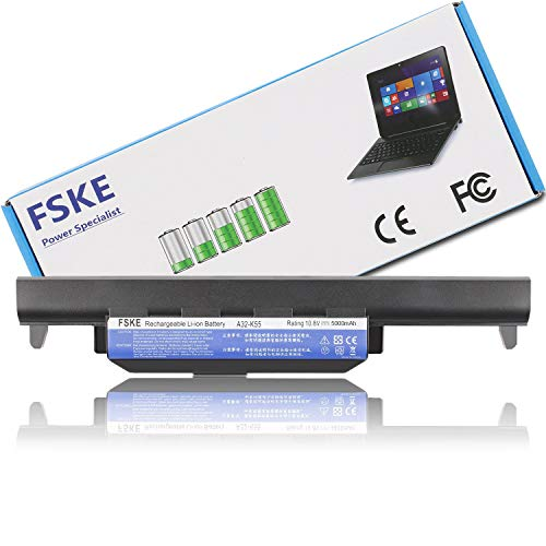 FSKE A32-K55 Akku für ASUS K55 F75A F55A R704V K55VD K55V X55A K55A X55C X75V X75VD X75A F55C F55 F75 F75V Notebook Battery,10.8V 5000mAh 6-Zellen