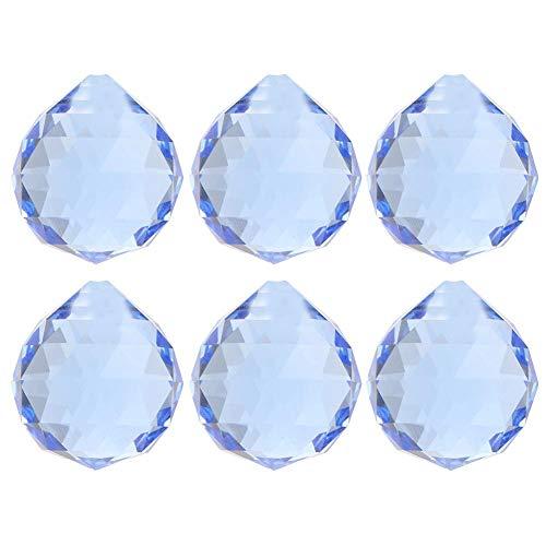 Atyhao kristallen kroonluchter onderdelen, glas prisma's regenboog Sun Catcher hanger voor licht lamp blauw