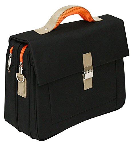 Borsa morbida da lavoro/ufficio porta laptop - 15,6 pollici - Inserti arancioni