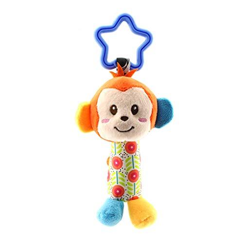 Baby baby kinderen activiteit spiraal bed kinderwagen speelgoed opknoping voor kinderwagen, baby speelgoed leeuw, baby hond aap koe speelgoed kleur willekeurige stervormige ring