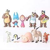 Cumpleaños Regalos Anime Figura Juguetes Dibujos Animados Juguetes Cumpleaños Oso Figuras Masha Juguetes Pvc Modelos 10pcs / Set