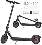XPRIT Electric Scooter, Up to 15 Miles Range, 2 Gear Speed Mode (Black, 8.5''Wheel)