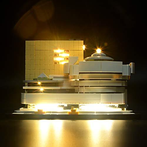BRIKSMAX Kit de Iluminación Led para Architecture Museo Solomon R. Guggenheim-Compatible con Ladrillos de Construcción Lego Modelo 21035, Juego de Legos no Incluido