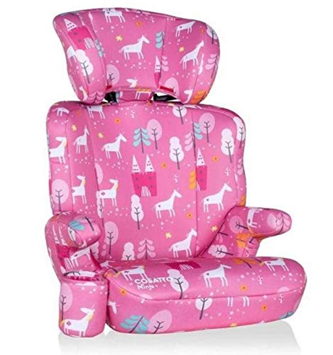 Cosatto Ninja Child Car Seat | Group 2/3, 15-36 kg, 4-12 years, High Back Booster, 6 Headrest Positions, Belt Fitted (Candy Unicorn Land)