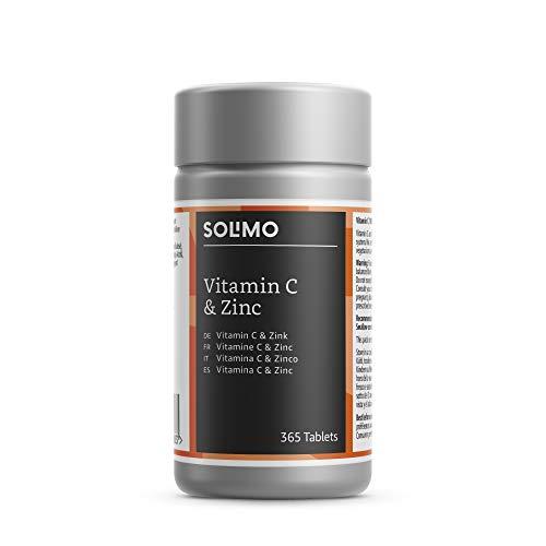 Amazon-Marke: Solimo Nahrungsergänzungsmittel mit Vitamin C 100 mg und Zink 15 mg, 365 Tabletten