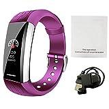Rejoicing Smartwatch V1 Smart-Sport-Armband Herzfrequenz-Monitor für das Motoren, Blutsauerstoff, Gesundheit und Musiksteuerung, Verschiedene Zifferblätter violett