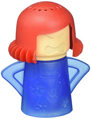 Angry Mama Mikrowelle Dampfreiniger das Reinigen Crud in Minuten, Dampf reinigt und desinfiziert mit Essig, und Wasser für Zuhause oder Büro Küche, Rot