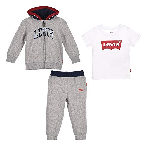 Levi's Kids Lvb Color Blocked Hoodie 3pc Set 6ea813-078-l5 Juego de pantalones para Bebés