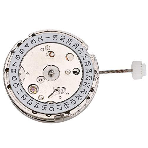 DAUERHAFT Movimiento automático Durabilidad Pieza de Repuesto del Movimiento del Reloj Blanco para Reloj 2813 Conveniente para la instalación Pieza de Reloj mecánico