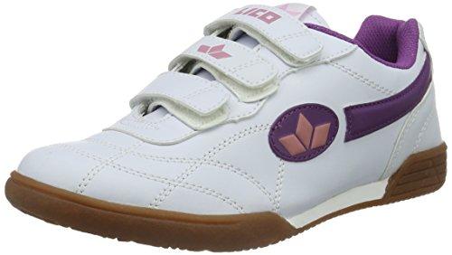 Lico Bernie V Mädchen Multisport Indoor Schuhe, Weiß/ Lila/ Rosa, 39 EU