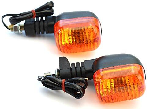 E-geprüfte und zugelassene Yamaha DT 125 R 125R paarweise Blinker mit M10 Rechtsgewinde und orangenem Glas von TW-Moto