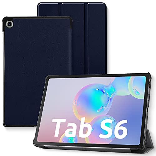 Funda para Samsung Galaxy Tab S6 Lite, carcasa trasera de TPU suave, con soporte para lápiz y ranuras para documentos para Samsung Tab S6 Lite 10,4 pulgadas SM-P610/P615 2020 (azul marino)