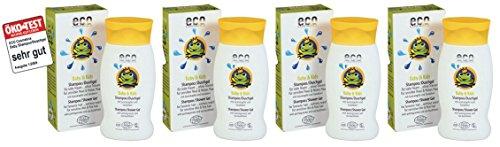Eco Cosmetics Baby & Kids Shampoo-Duschgel Granatapfel-Sanddorn 4x200 ml