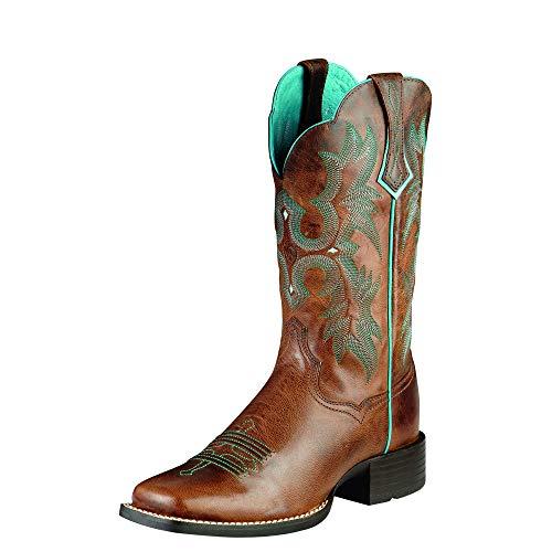 ARIAT Tombstone Donna Stivali Western Stivali da Equitazione, Marrone (Sassy Brown), 41 EU - 7 UK - 9.5 US