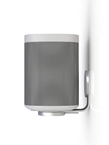 Nova White Single Wall Mount for Sonos One (Gen1, Gen2), One SL and Play:1 - Premium UK Design & Manufacturing Complements your Speakers, Rotate Left & Right for Perfect Alignment