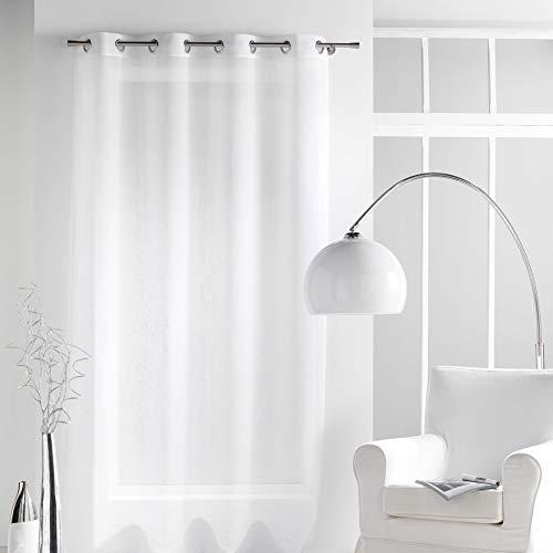 douceur d'intérieur 1622554 Panneau Oeillet Voile Crash Paloma Polyester Blanc 140 x 240 cm