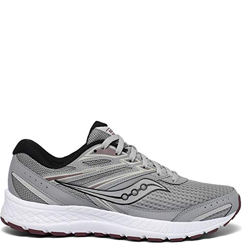 Saucony Men's Cohesion 13 Running Shoe, Alloy/Brick, 11