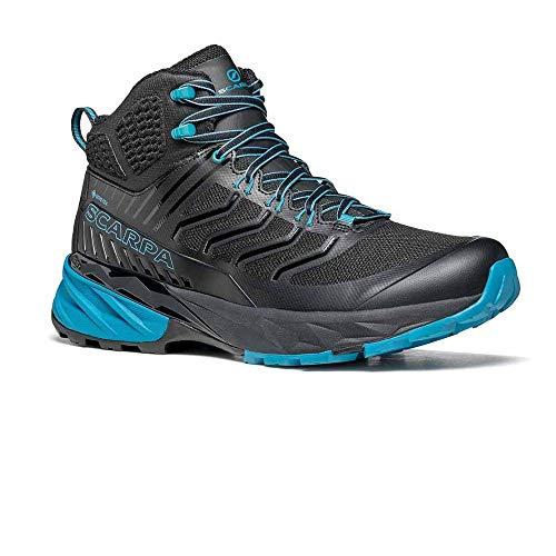 Scarpa Men's Rush MID GTX Trail Running Shoes, Black-Ottanio Gore-tex SHCM Free Dome, 9 UK