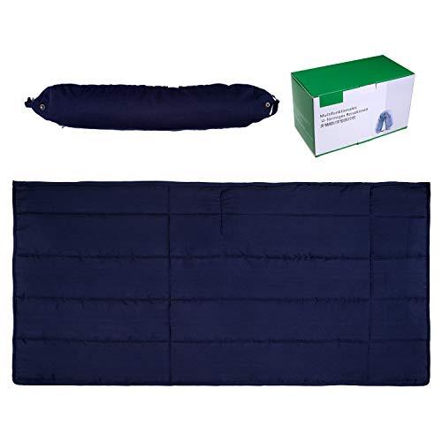 Reisekissen und Decken-Set -2 in 1 Reisekissen/Gewichtsdecke - Ideal für Autos,Züge,Flugzeuge,Camping - Tragbare Faltbare Decke für die Reise