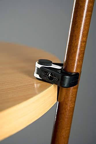 Stockhalter für Tisch, schwarz