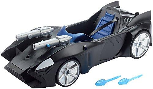 DC Justice League Batman, Vehículo Batmóvil con doble lanzamisil, coche de Batman (Mattel FDF02)