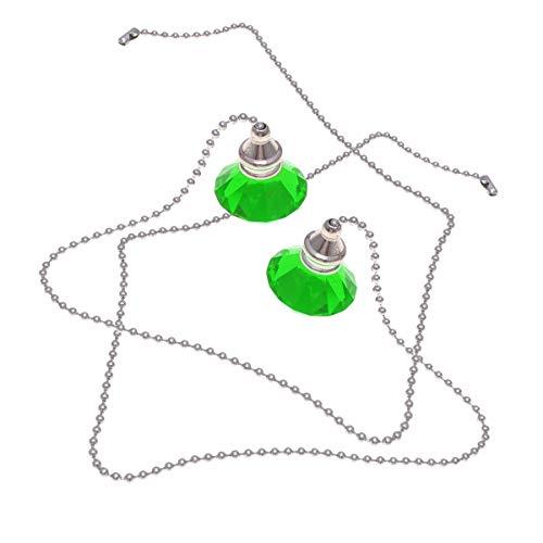 2pcs ventilador de techo de cristal cadena de extracción árbol de navidad colgante de diamante adorno para el hogar decoración de la boda (verde) Luz atmosféricaLuz interior