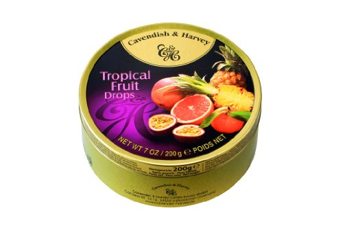 Cavendish & Harvey - Tropical Fruit Drops - Bonbons, 200g in Metalldose