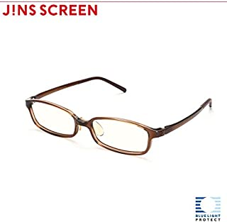 【JINS SCREEN クリアレンズ】スクエア (BROWN)