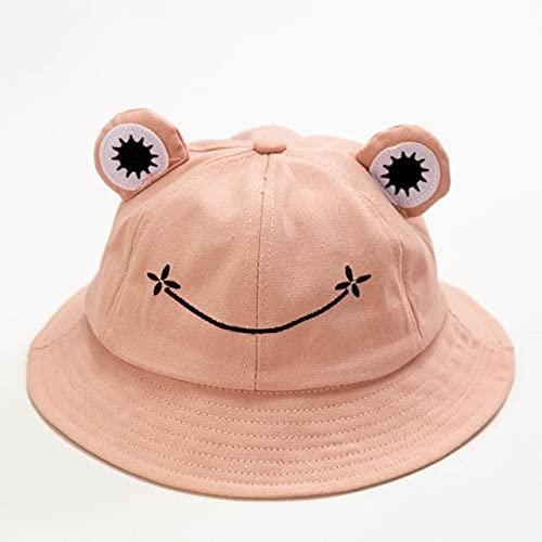 3-8 años Lindo niños Sombrero de Cubo niños niñas Primavera Verano Gorra de Dibujos Animados bebé Sombrero niño niña Sombreros-Bucket Pink