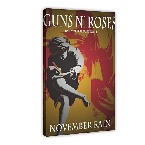Album musicale Guns N Roses Album copertina vintage poster tela poster decorazione camera da letto sport paesaggio ufficio decorazione camera da letto 60 x 90 cm Frame-style1