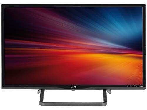 """Trevi LTV 2401 SAT Televisore LED 24"""" con Decoder Digitale Terrestre DVBT-T2 e Satellitare DVBS-S2, Risoluzione max 1366 x 768 dpi HD Ready, Nero"""
