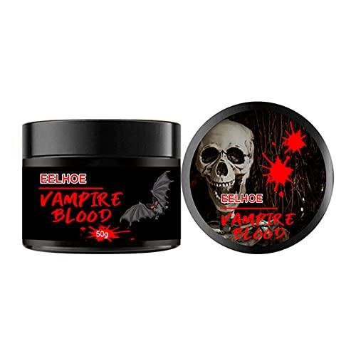 Xingying Simulación de sangre para Halloween, máscaras, disfraz de cosplay, disfraz de fiesta, maquillaje para hombres, mujeres y niños, 50 g