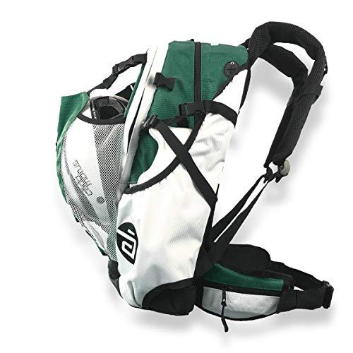 Cádomotus Airflow Sportrucksack 30+15L - Fahrrad Rucksack - MTB Rucksack - Schlittschuhtasche - Inlineskates Rucksack - Ultraleicht - mit Rückenbelüftung, Helmfach, Schuhfach - Sacramento Grün