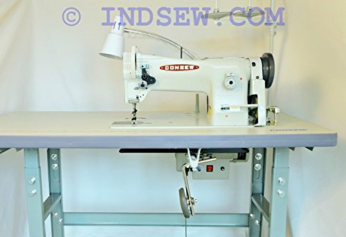 Consew 206RB-5 Walking Foot Upholstery Machine w/Table & Motor (Table Comes Assembled) -  3629168