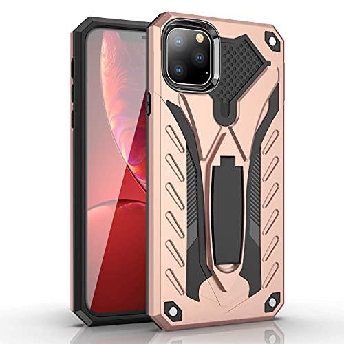 Flyuzi Funda de Armadura a Prueba de Golpes para Huawei Honor P8 P9 P10 P20 P30 Mate 9 10 20 Pro Lite Plus PORNÍA Titular Funda Protectora (Color : Rose Gold, Material : For P30 Pro)