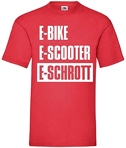 Generisch Bicicleta Eléctrica Scooter Eléctrica E-Schrott Hombres Camiseta - shirt84 - Rojo,...