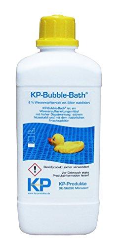 KP-Bubble Bath® Chlorfreies Wasseraufbereitungsmittel 6{8b3bfa9bed6da27b324849e33feb9659e8fa09eb6bf2b789bd90c367288f9dfe} H2O2 für Pool und Planschbecken (1.000 ml)