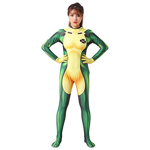 Hope Traje Rogue X-Men Cosplay película Mono del Vestido Medias Siameses de Halloween para los niños Adultos,A-165~175 cm