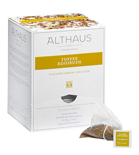 Althaus Pyra Pack Toffee Rooibush 15 x 2,75g ⋅ Rooibushtee im Pyramidenbeutel