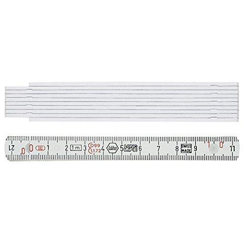Wiha Gliedermaßstab Longlife® 1 m metrisch, 10 Glieder (27062) weiß