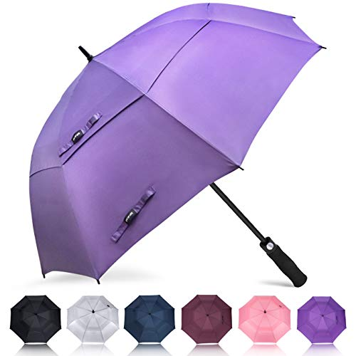 ZOMAKE Golf Umbrella 62 Inch, Large Windproof Umbrellas Automatic Open Oversize Rain Umbrella with Double Canopy for Men Women - Vented Stick Umbrellas